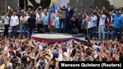 Һуан Гуайдо тарафдарлары митингы