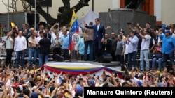 Митинг сторонников Гуайдо