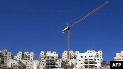نمایی از ساخت و سازها در شهرک یهودینشین «هر خوما» در نزدیکی بیتالمقدس (اورشلیم)