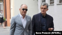 Svetozar Marović sa svojim advokatom Zdravkom Begovićem, arhivski snimak