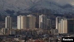 نمایی از ساختمانهای شهر تهران