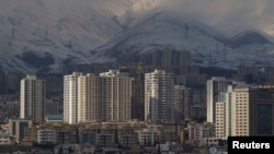 A general view of housing complexes in northwestern Tehran.