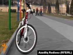 Bulvarda velosipedlər