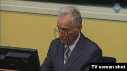 Ratko Mladić u Haškoj sudnici