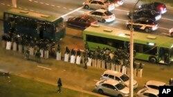 اعتراضات به نتیجه انتخابات در مینسک پایتخت بلاروس