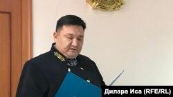 Судья специализированного межрайонного суда по уголовным делам города Шымкента Абинур Карабаев.