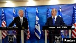 Байден и Нетаньяху в Иерусалиме, март 2016