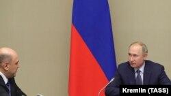 Predsjednik Rusije Vladimir Putin i premijer Mihail Mišustin