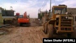أعمال بناء في قضاء الميمونة بمحافظة ميسان