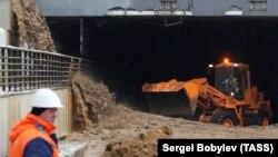 Тушинский тоннель после затопления