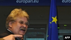 Belgium -- European Parliament Chairman of the Foreign Affairs Committee Elmar Brok, Brussels, 23Apr2012