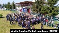 Сторонниики Саакашвили на украинско-польской границе