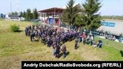 Sprijinitori ai lui Saakașvili la granița polonezo-ucraineană, 10 septembrie 2017