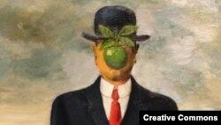 Рене Магритт. Сын человеческий, фрагмент