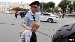 Rusiyada pensiya islahatına etirazlar, arxiv fotosu