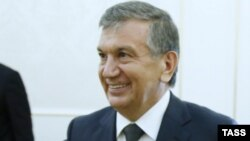 Shavkat Mirziyaev, the front-runner in the Uzbek presidential election (file photo)