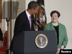 U.S. President Barack Obama announces Elena Kagan as his nominee for the Supreme Court at the White House on May 10, 2010.