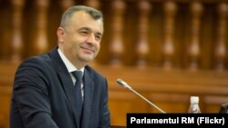 Prim-ministrul Ion Chicu în Parlament