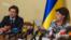 Міністр культури України Євген Нищук і голова Українського культурного фонду Марина Порошенко
