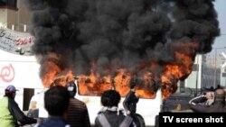 Misirin Port Said şəhərində etiraz aksiyası