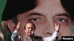 Наваз Шариф, лидер партии «Пакистанская мусульманская лига».