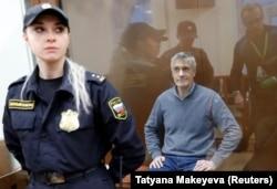Майкл Калви в боксе для обвиняемых на судебных слушаниях в Москве. 15 февраля 2019 года