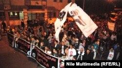 متظاهرون امام القصر الر ئاسي بالقاهرة
