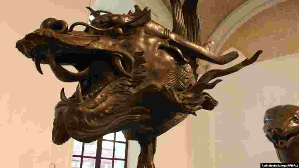 "One of the sculptures that features in ""Circle of Animals"" by the high-profile Chinese artist Ai Weiwei"