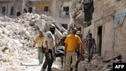 Алеппоның соғыстан қираған аудандарының бірі. Сирия, 17 мамыр 2016 жыл.