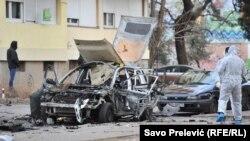 Sa lica mesta gde se odigrao napad bombom, Podgorica (ilustracija)