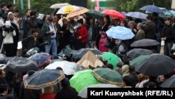 "28 апрел куни Олмаотада бўлиб ўтган ""норозилар митинги""."