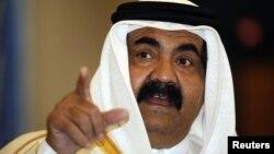 شيخ حمد بن خليفه، امير قطر،