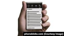 Phoneblok смартфонының үлгісі.