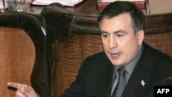 Mikheil Saakashvili addressing parliament on February 12