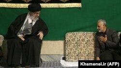 Iranian Supreme Leader Ayatollah Ali Khamenei (left) with General Qasem Soleimani in 2015.