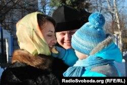 Наталя Бойко з її чоловіком та сином