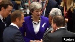 Британия премьер-министри Тереза Мэй Брюсселдеги саммитте. 22-март, 2018-жыл.