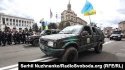 Киевте Украина тәуелсіздігі күні болған әскери парад. 24 тамыз 2017 жыл.
