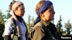 Сириядагы согушка катышкан аялдар