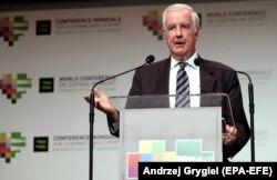 Predsjednik WADA-e Kreg Ridi održao je govor na Svjetskoj konferenciji o dopingu u sportu u Katovicama, Poljska, 7. novembra
