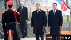 Macedonia - Serbian Prime Minister Ivica Dacic pays a visit to Macedonia met Macedonian Prime Minister Nikola Gruevski in Skopje - 28Jan2013