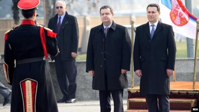 Ivica Dačić i Nikola Gruevski u Skoplju