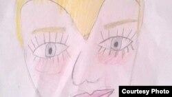 Духтари 10-солаи Н.Юсупов симои марди эщтимолии ҳамлагарро мувофиқи тахайюли кӯдаконаи худ кашидааст
