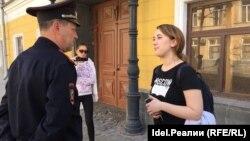 Подполковник полиции Александр Царевский и Дарья Кулакова. 29 апреля 2017 года