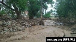 Сел жүрген Қарағайлы елді мекені. Алматы, 23 шілде 2015 жыл.
