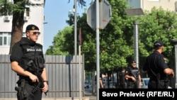 Pamje nga objekti ku është mbajtur gjykimi i sotëm në Podgoricë