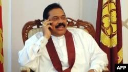 Шри-Ланка президенті Махинда Раджапакса. Коломбо, 27 қаңтар 2010 жыл.