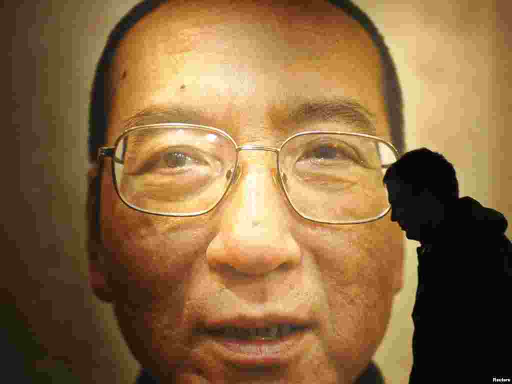 "A Nobel Peace Prize exhibition in Oslo, ""I Have No Enemies,"" for Chinese dissident and new laureate Liu Xiaobo. Photo by Toby Melville for Reuters"