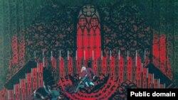 Борис Мессерер. Эскиз декорации к спектаклю «Три возраста Казановы. Драматические сцены в стихах» по Марине Цветаевой
