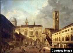 Вид Бергамо, родного города Локателли